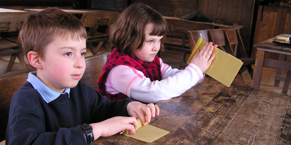 Candle making at Chiltern Open Air Museum