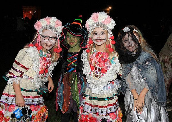 Children in Halloween fancy dress