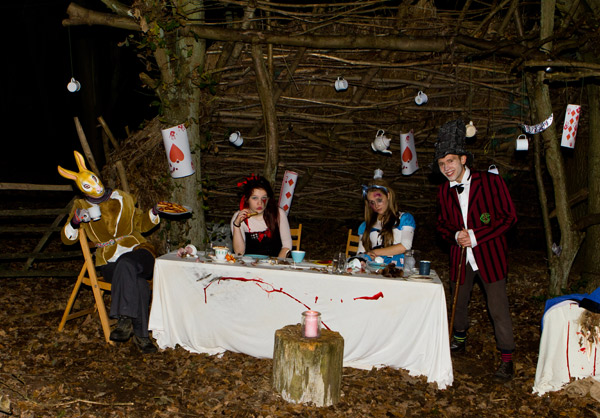 Spooky mad hatters tea party