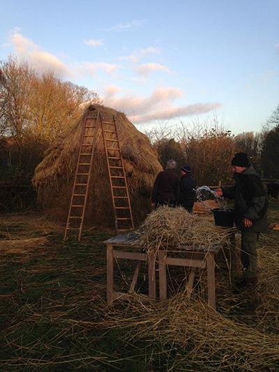 Building a hay rick