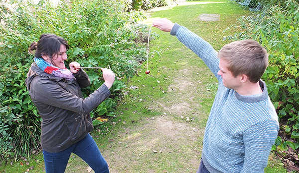 historic games playing conkers
