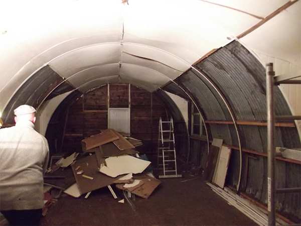 inside our new nissen hut