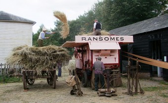 Ransomes threshing machine