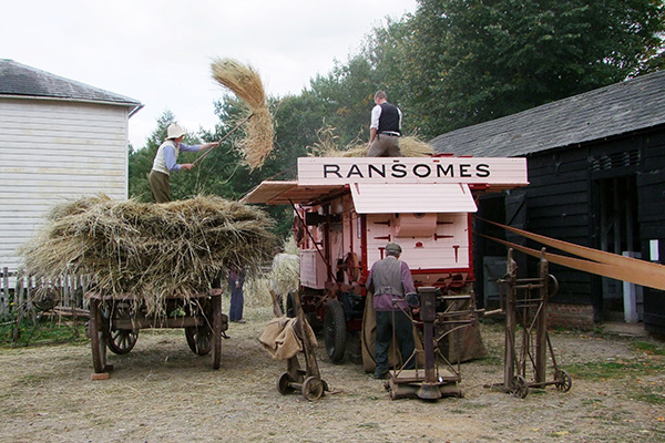 Ransomes thresher at Chiltern Open Air Museum