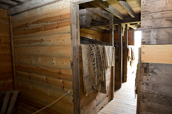 Rossway Granary Interior at Chiltern Open Air Museum in Buckinghamshire