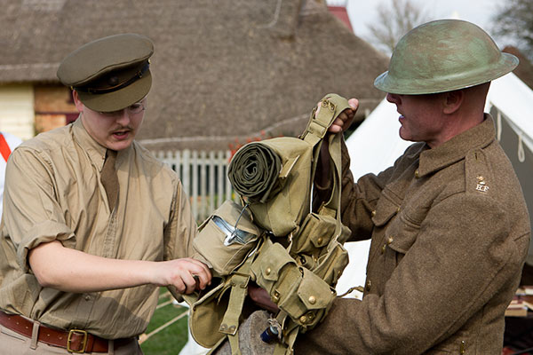 WW1 Living History Event at Chiltern Open Air Museum in Bucks