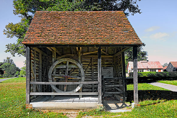 Reconstructed well head from Harpenden at Chiltern Open Air Museum